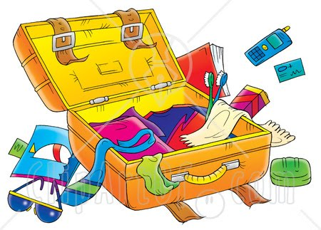 Packing Holiday Art Clipart - Clipart Kid