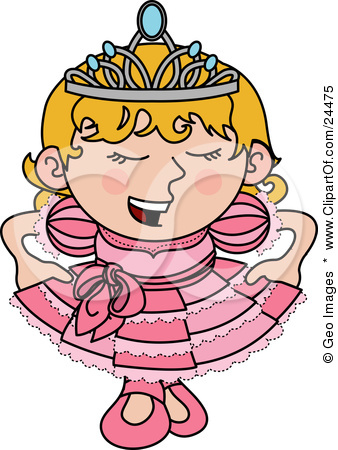 24475 Clipart Illustration Of A Spoiled Blond Princess Girl In A Pink