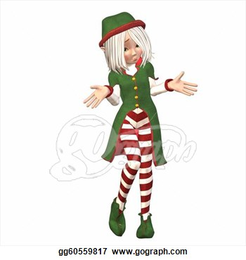 Drawing   Confused Christmas Elf  Clipart Drawing Gg60559817   Gograph