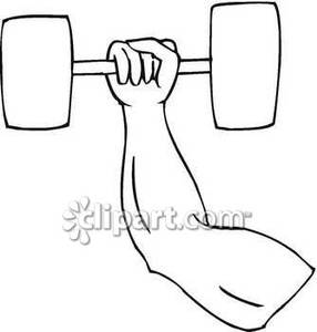 Dumbbell Arm Clip Art Clipart Free Clipart #xSrTFT - Clipart Kid