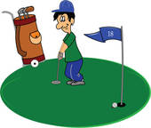 Golf Putting Clip Art Black And White   Clipart Panda   Free Clipart