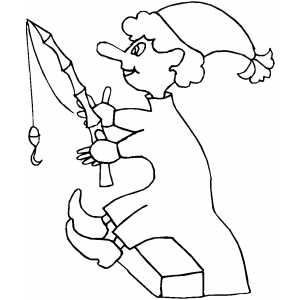 Sad Elf Colouring Pages