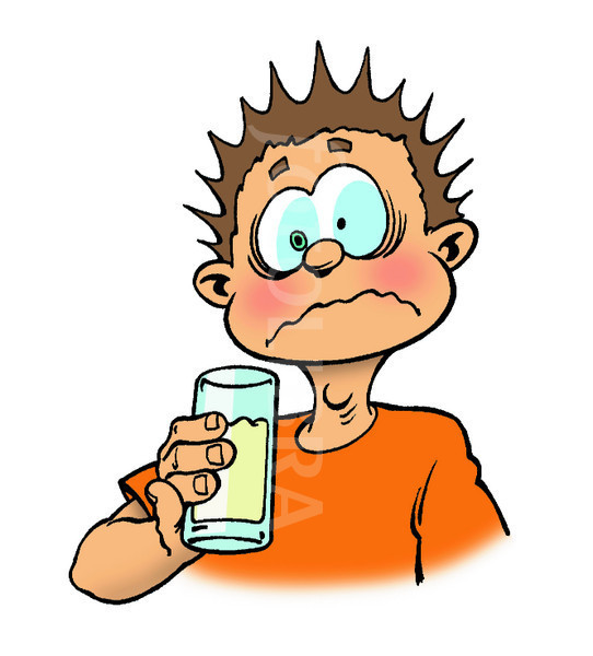 Spoiled Milk Clipart Boy Drinking Sour Milk