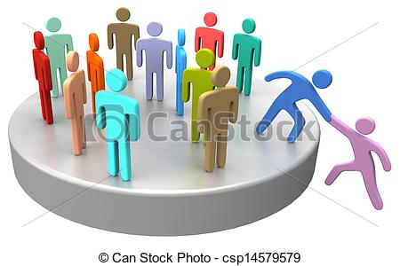 Stock Illustrations Of Help Join Up Social Business People   Helping