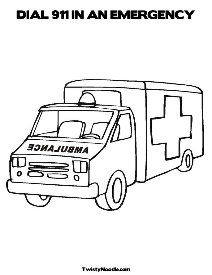 911 Emergency Coloring Pages Http   Pics10 This Pic Com Key Ambulance