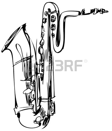 Baritone Clipart 11119048 A Sketch Of A Brass Musical Instrument