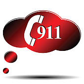 Call 911 Clipart 911 Emergency   Clipart Graphic