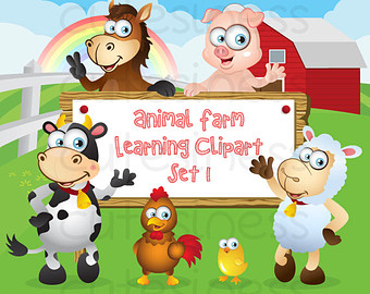 Farm Digital Clipart Farm Clipart Farm Clip Art Animal Farm Clipart
