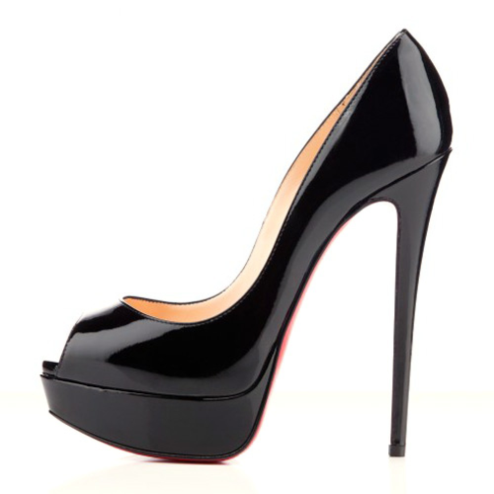 Red High Heel Peep Toe Shoes