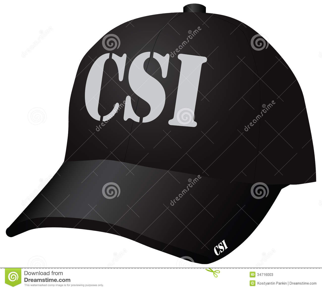 Marine Police Officer Hat Usa A Baseball Cap  Vector Illustration