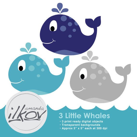 Premium Baby Whale Clipart For Digital Scrapbooking By Amandailkov
