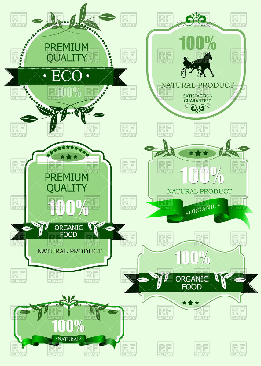 Premium Quality Green Eco Label 52046 Download Royalty Free Vector