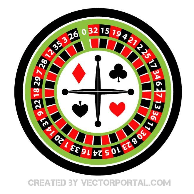 Roulette Casino Vector Clipart