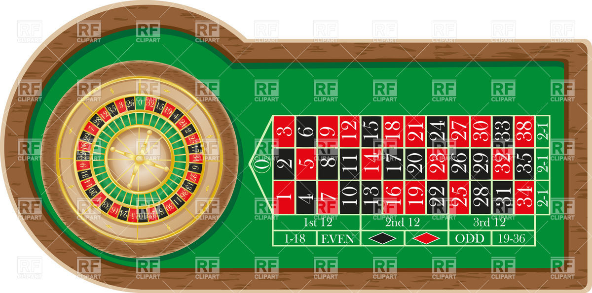 Roulette Table 19720 Download Royalty Free Vector Clipart  Eps