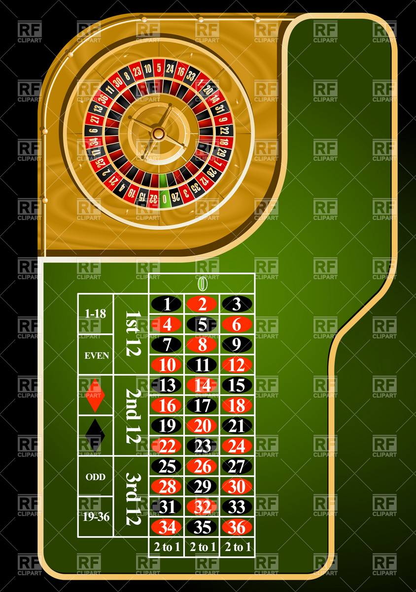 Roulette Table Layout Download Royalty Free Vector Clipart  Eps