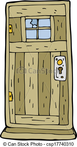 Vector Clip Art Of Cartoon Old Wood Door Csp17740310   Search Clipart