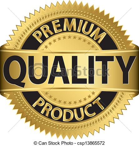 Vectors Illustration Of Premium Quality Product Golden Label Vector