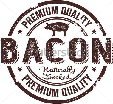 Vintage Style Premium Bacon Sign Stock Vector   Clipart Me