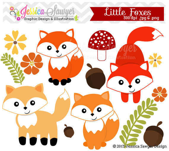 Baby Fox Clipart Little Fox Clipart