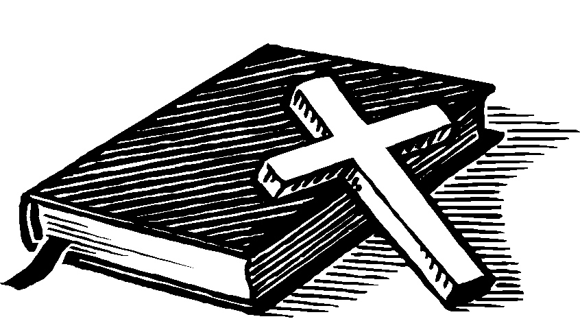 Bible With Cross Clip Art