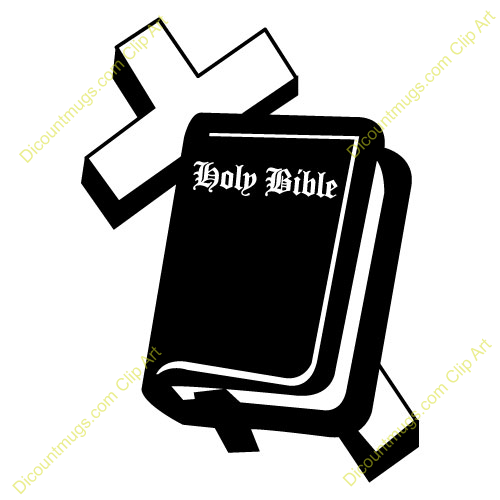 Clipart 11367 Cross   Bible   Cross   Bible Mugs T Shirts Picture