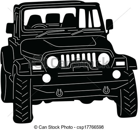 Eps Vectors Of 4x4 Truck   Illustration Of Great 4x4 Truck Silhouette