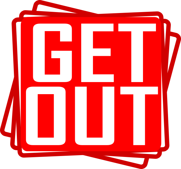 Get Out Clip Art At Clker Com   Vector Clip Art Online Royalty Free