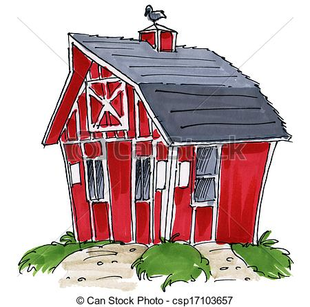 Of Barn Shed   A Little Barn Or Shed Csp17103657   Search Clipart