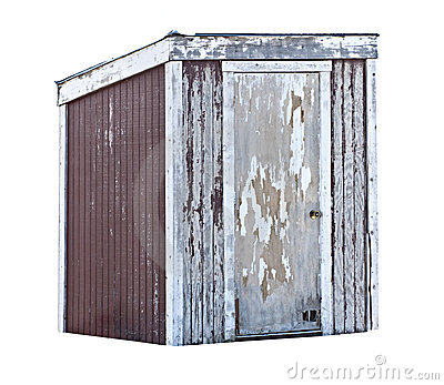 Old Wood Shed Or Outhouse Royalty Free Stock Photography   Image