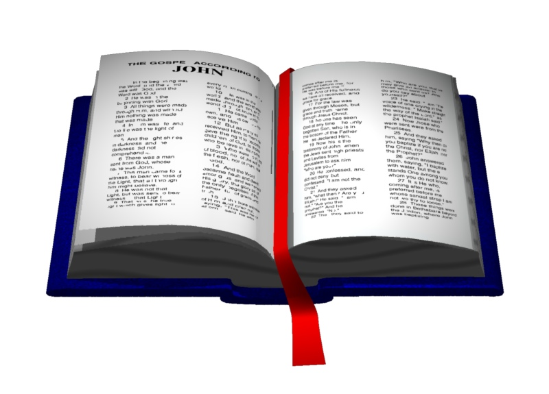 Open Bible Bookmark 3 Trendy Bible Educational Clip Art