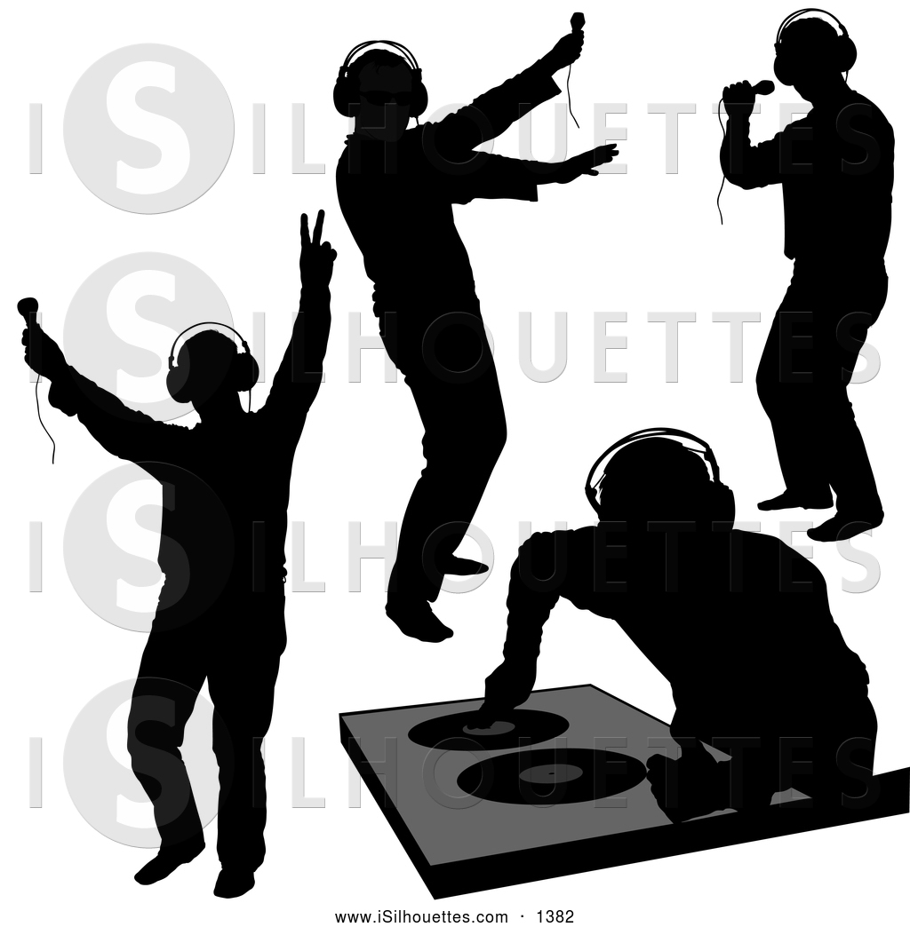 Royalty Free Clip Art Of Black Dj Silhouettes This Dj Stock