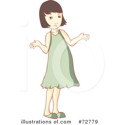 Royalty Free  Rf  Girl Clipart Illustration By Bad Apples   Stock