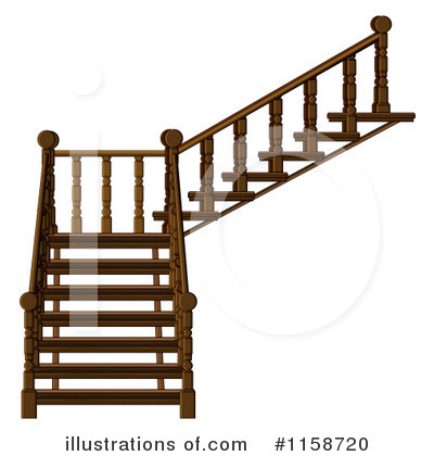 Royalty Free  Rf  Stairs Clipart Illustration By Colematt   Stock