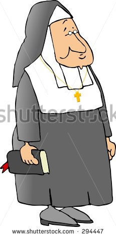 Clipart Illustration Of A Catholic Nun Stock Photo Clipart