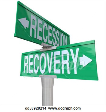 Clipart   Recession Recovery Street Signs Economy Growth  Stock
