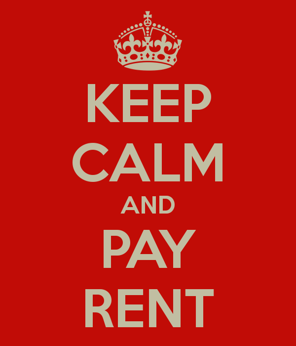 Pay Rent Keep Calm And Pay Rent