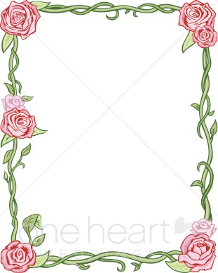 Renaissance Style Roses And Vines   Wedding Flower Borders
