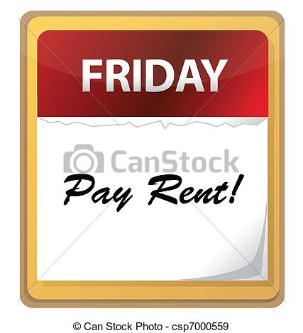 Rent Due Clipart Calendar Mark With Pay Rent