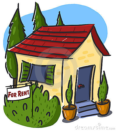 Rent Due Clipart House For Rent Illustration