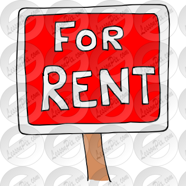Rent Picture For Classroom   Therapy Use   Great Rent Clipart