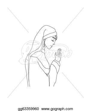 Stock Illustration   Vector Illustration Of Nun   Clipart Gg63359960