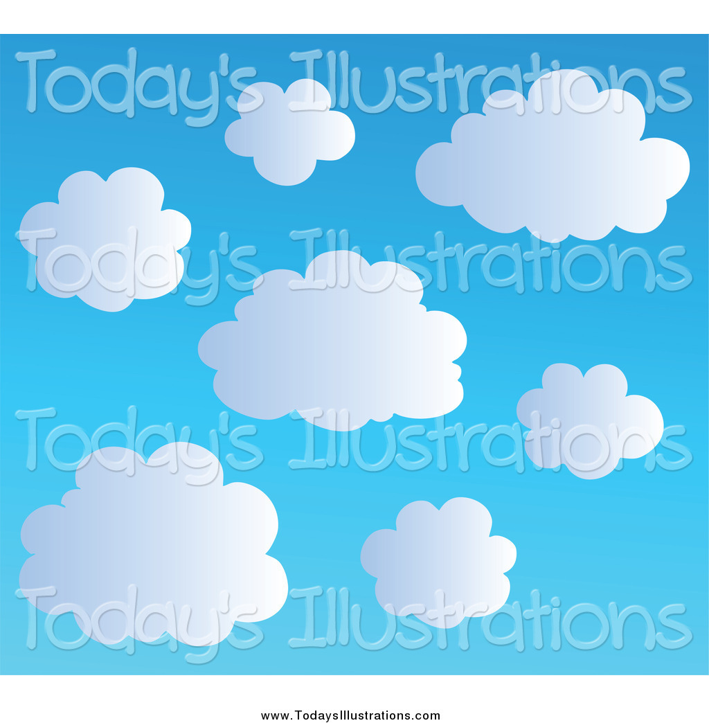 Blue Sky Clouds Clipart New Clipart   New Stock New