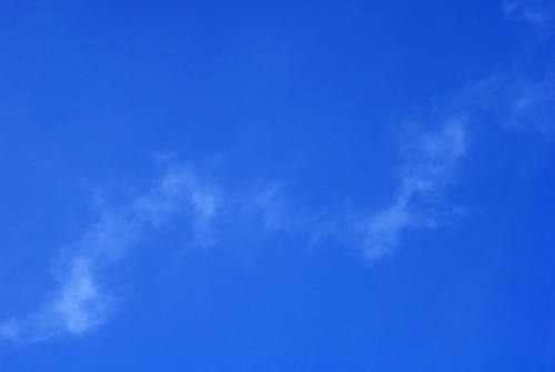 Blue Sky With A Whisp Of Cloud   Free Photos And Art   Royalty Free