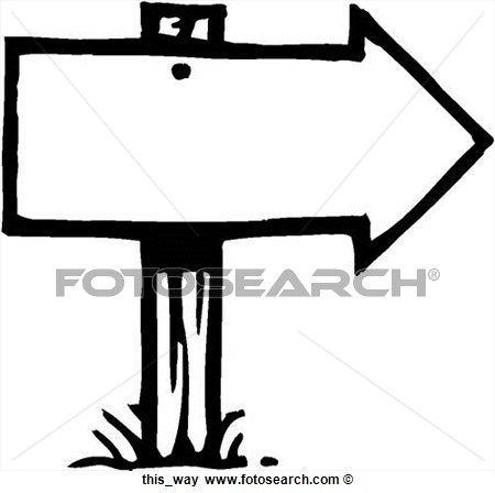 Clip Art Of This Way This Way   Search Clipart Illustration Posters