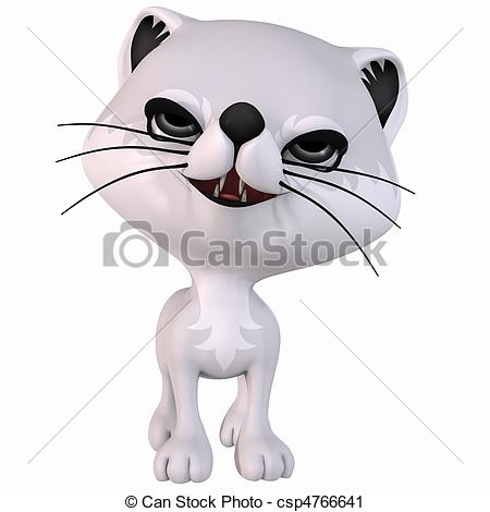 Clipart Of Toon Arctic Fox   3d Render Of An Toon Artic Fox Csp4766641