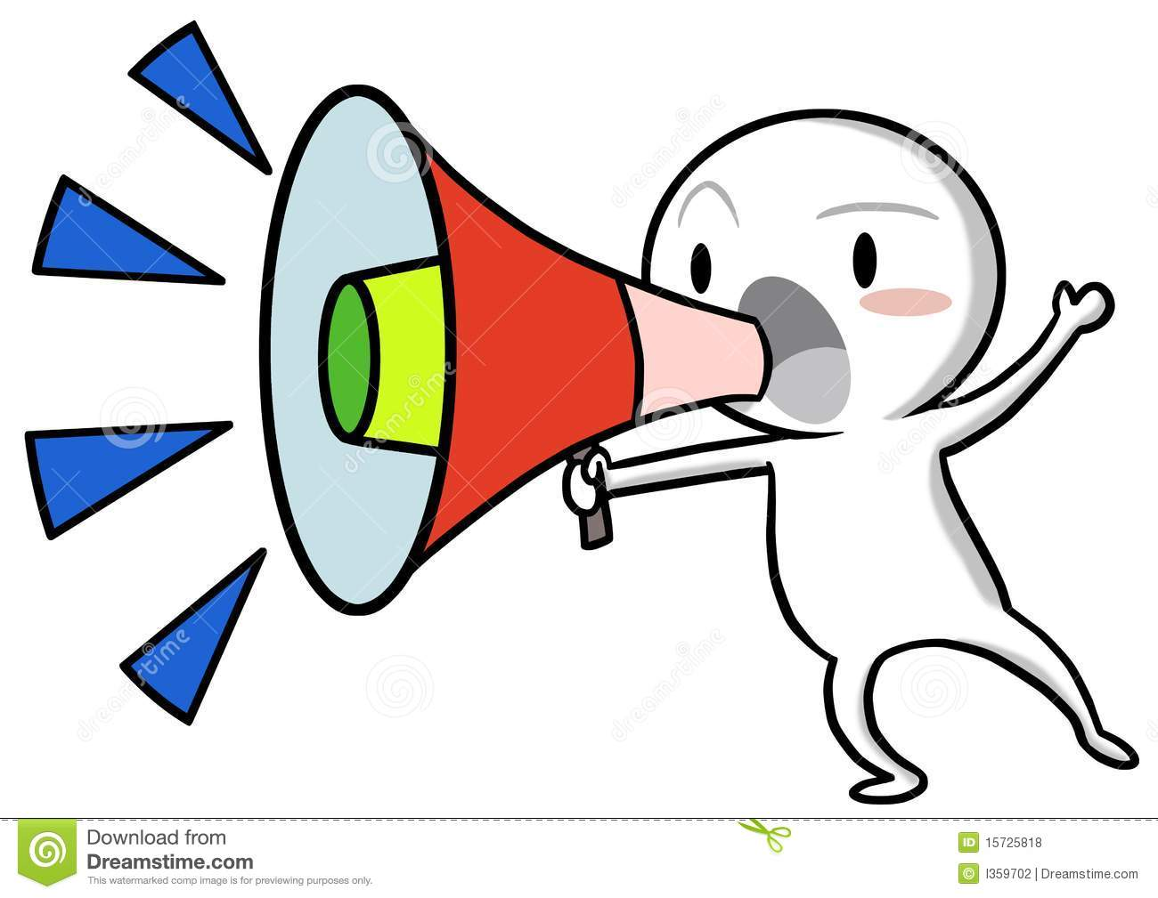 Cute Icon Gugu Holding The Megaphone Shouting