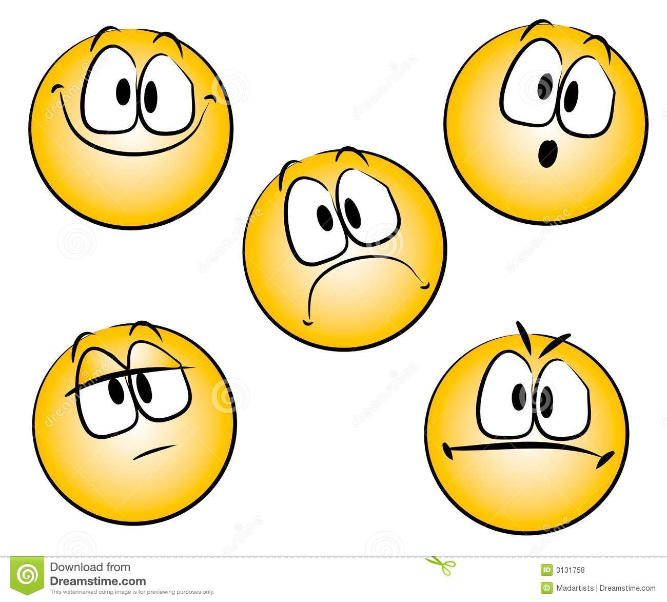 Emoticons Smileys Clip Art Royalty Free Stock Photos   Image  3131758
