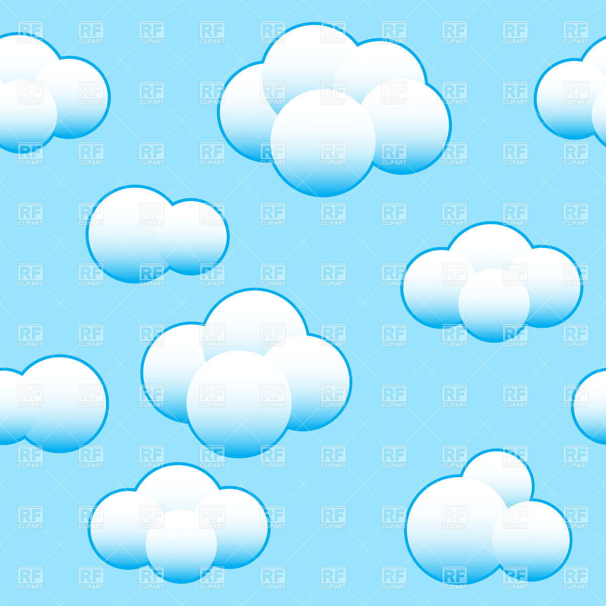 Light Blue Sky Background With White Clouds Download Royalty Free