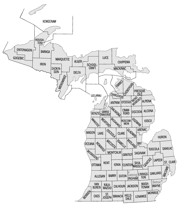 Michigan Counties   Http   Www Wpclipart Com Geography Us Counties
