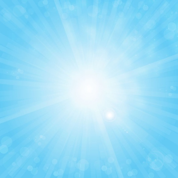 Name  Free Sun On Blue Sky Vector Background